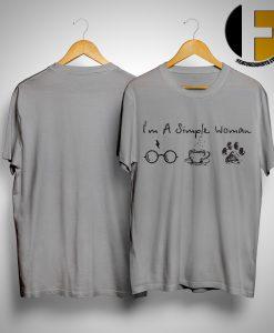 I'm A Simple Woman I Like Harry Potter, Coffee and Paw Dog Shirt
