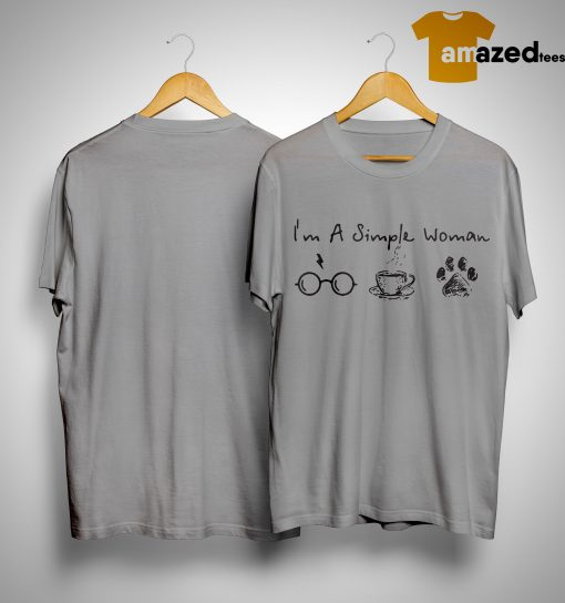 I'm A Simple Woman I Like Harry Potter, Coffee and Paw Dog Shirt
