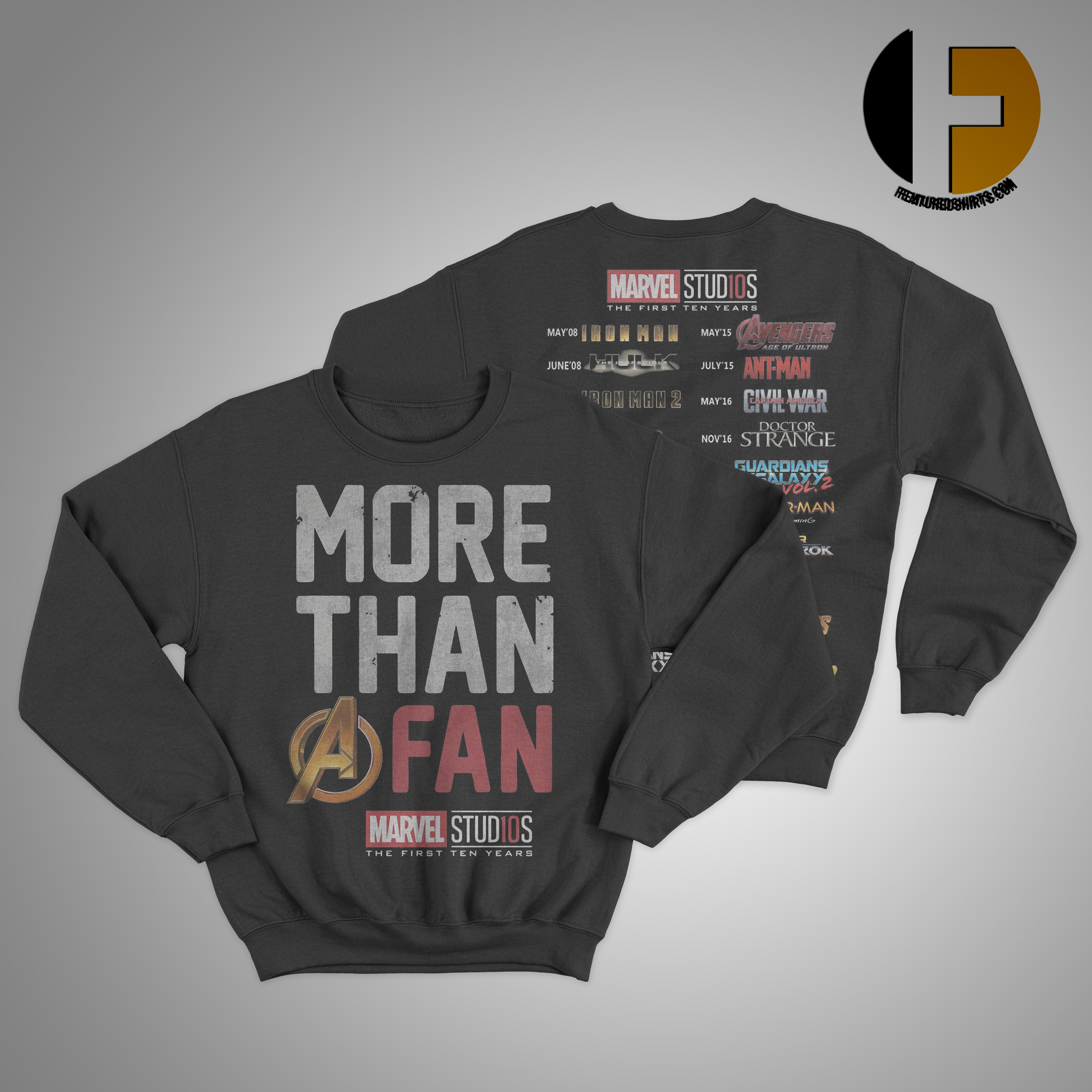 More Than A Fan Marvel Marvel Studios The First TenA Years Sweater