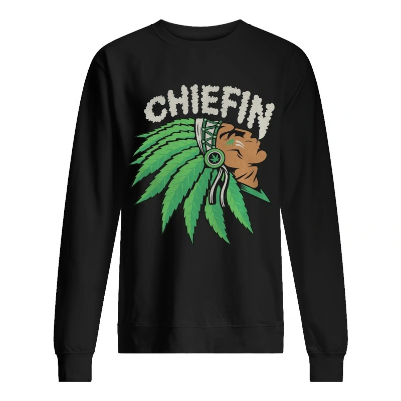 Native Indian Smoking Weed Chiefin Sweater
