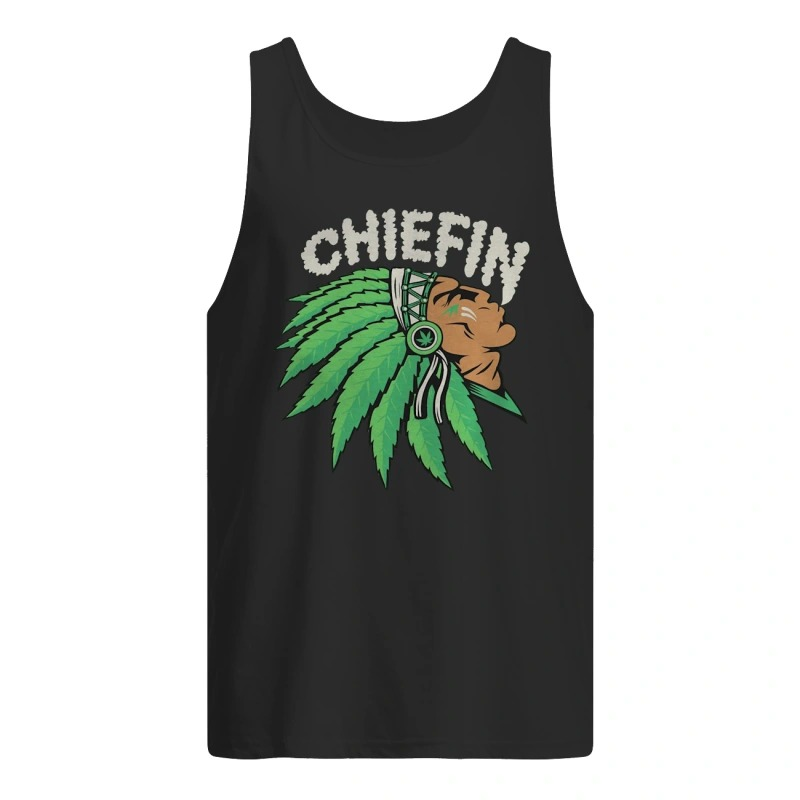Native Indian Smoking Weed Chiefin Tank Top