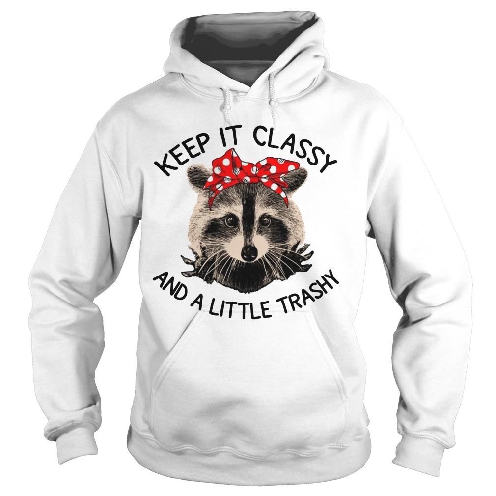 Raccoon Keep It Classy And A Little Trashy Hoodie