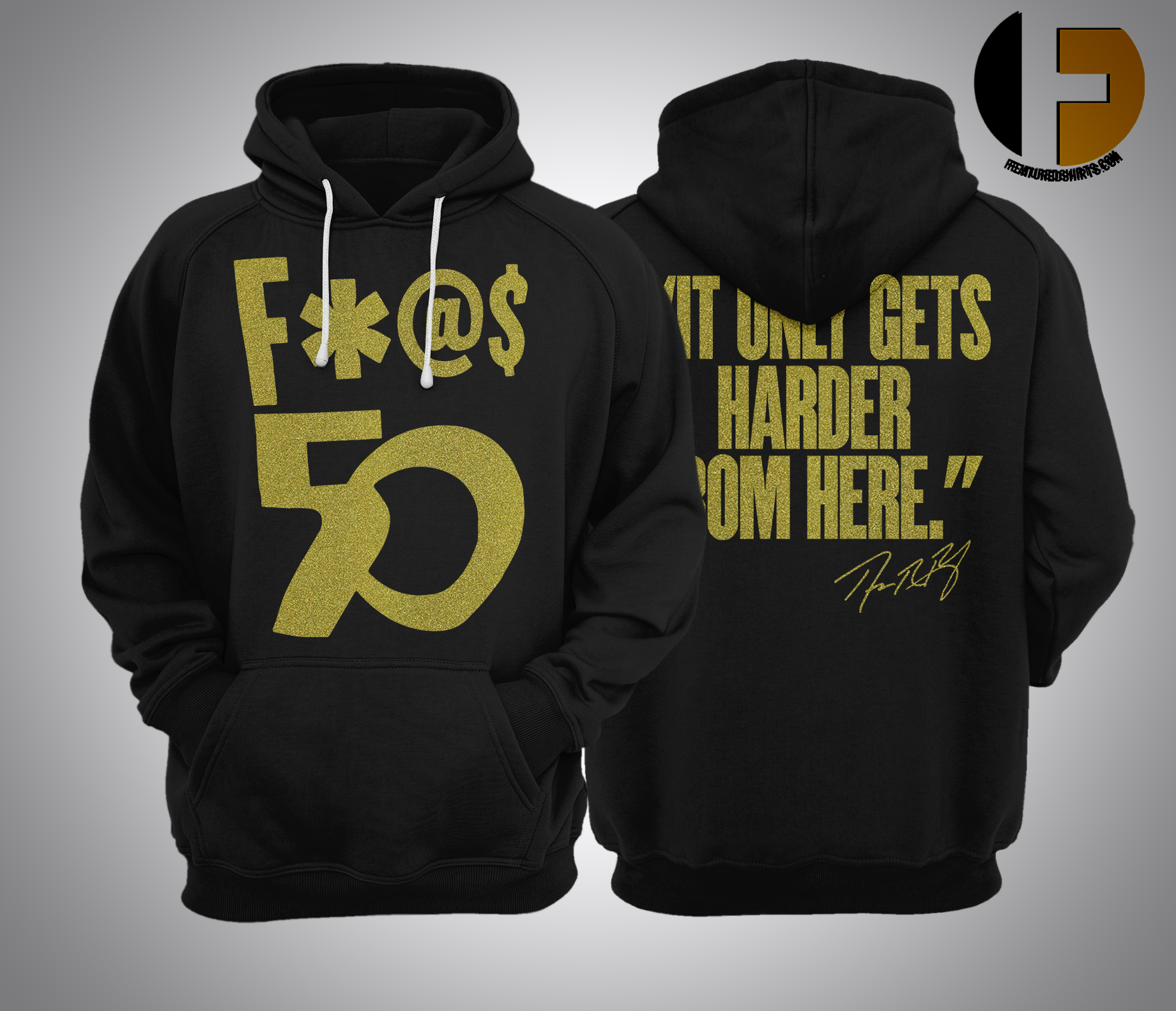 Richard Ray Rawlings F 50 It Only Gets Harder From Here Hoodie