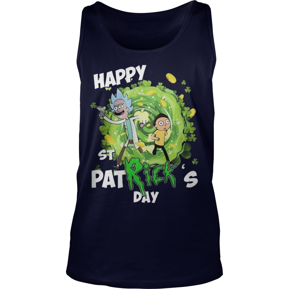 Rick And Morty Happy St Patrick's Day Tank Top