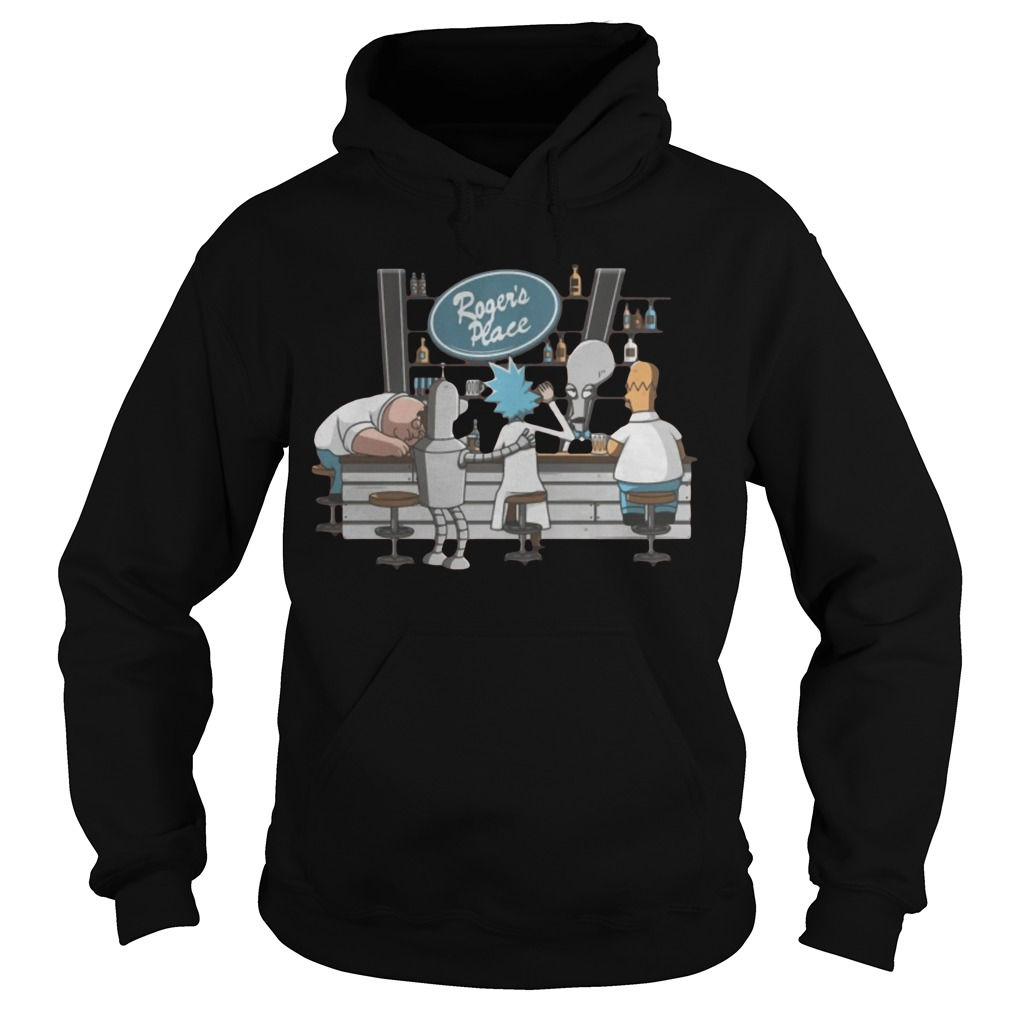 Rick And Morty Roger's Place Hoodie