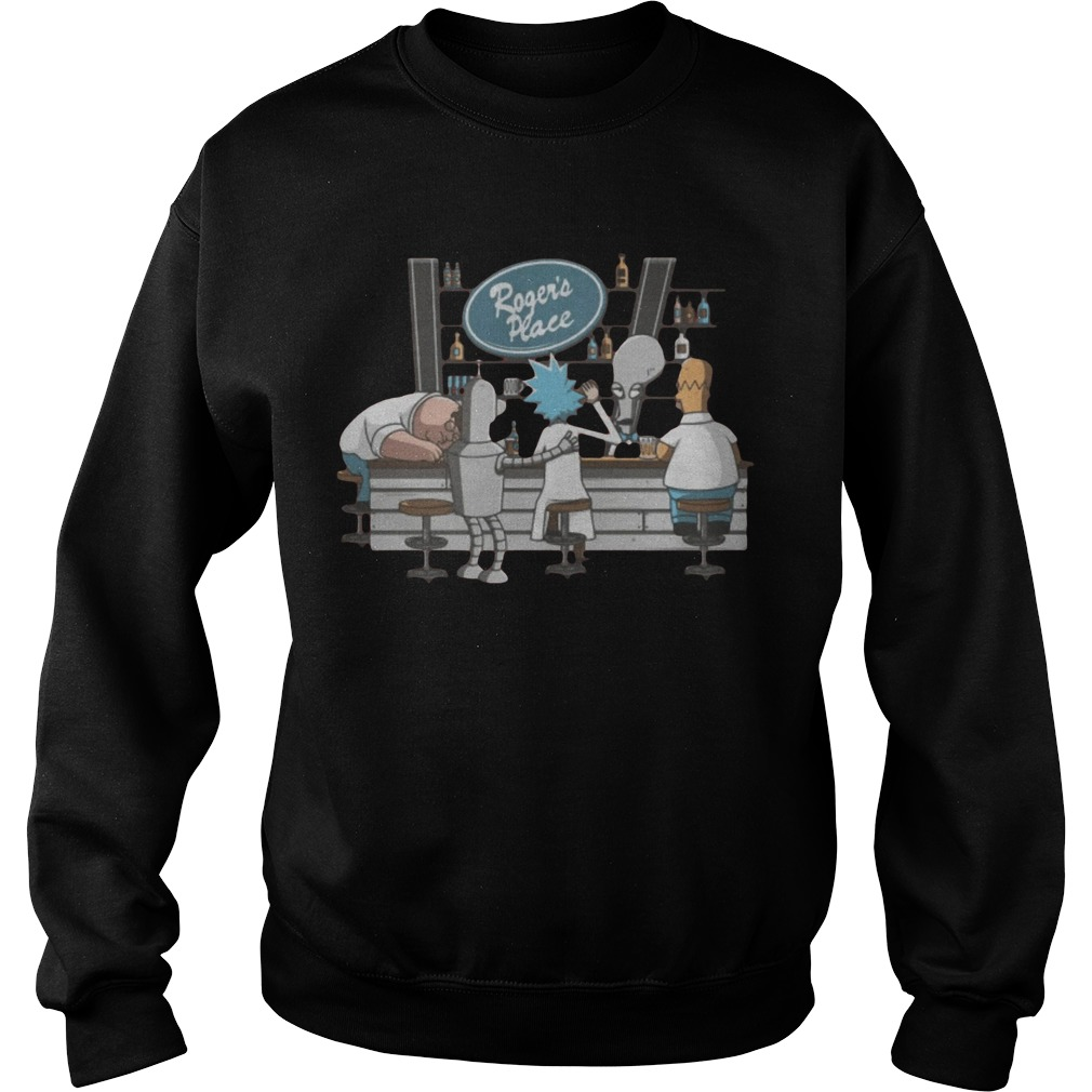 Rick And Morty Roger's Place Sweater