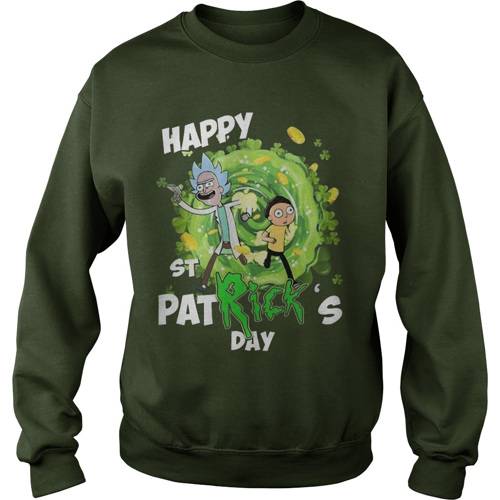 Rick and Morty Happy St Patrick's Day Sweater