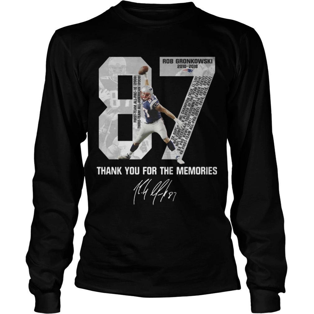 Rob Gronkowski Retirement Thank You For The Memories Longsleeve Tee