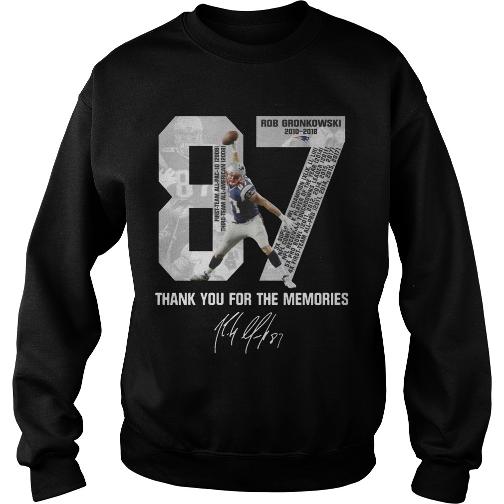 Rob Gronkowski Retirement Thank You For The Memories Sweater