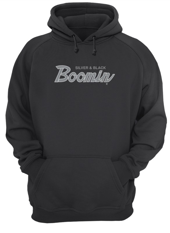 Silver And Black Boomin Hoodie
