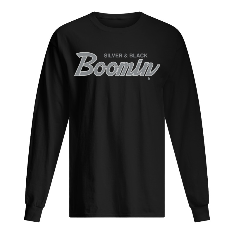 Silver And Black Boomin Longsleeve Tee