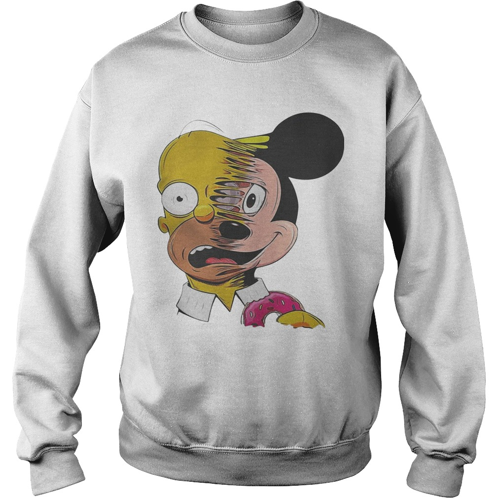 Simpsons Mickey Mouse Sweater