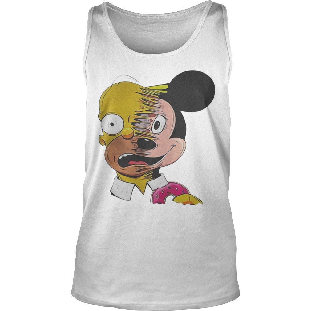 Simpsons Mickey Mouse Tank Top