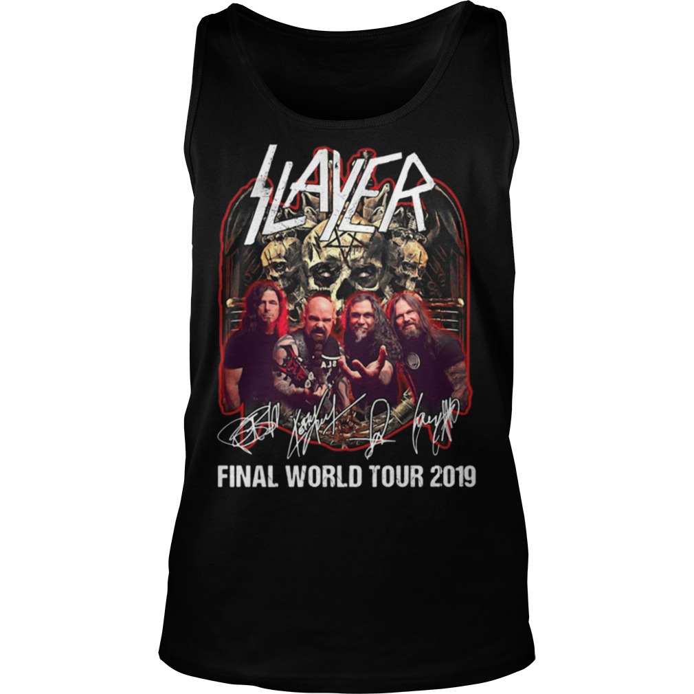 Slayer Final World Tour 2019 Tank Top