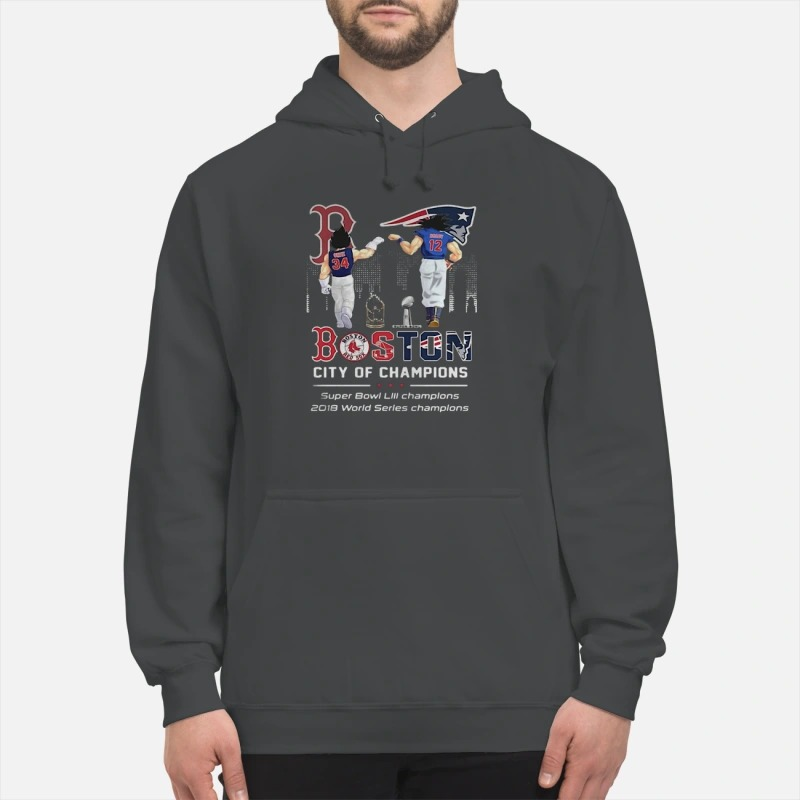 Son Goku And Vegeta Patriots Boston City Of Champions Super Bowl Hoodie