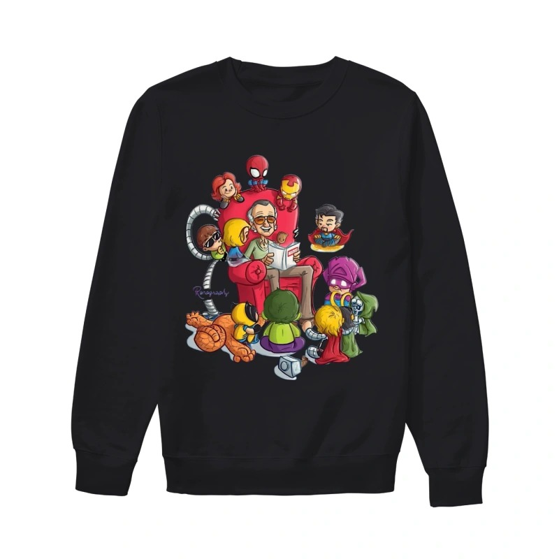 Stan Lee And Superhero Renography Sweater