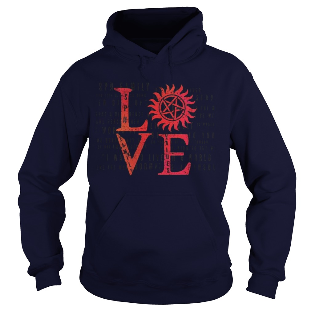 Stands SPN Family Love Hoodie Back For Limited Time