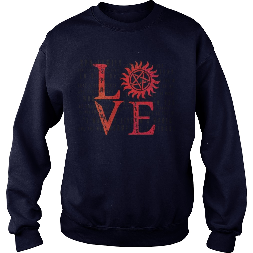 Stands SPN Family Love Sweater Back For Limited Time