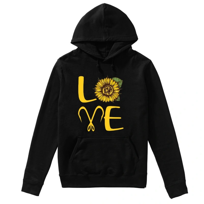 Sunflower Fishing Love Hoodie
