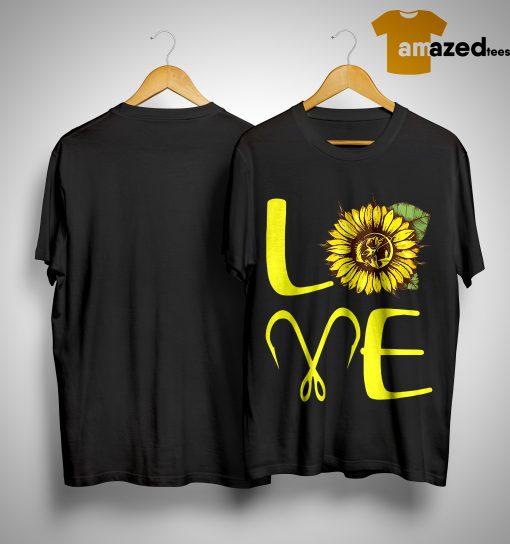 Sunflower Fishing Love Shirt