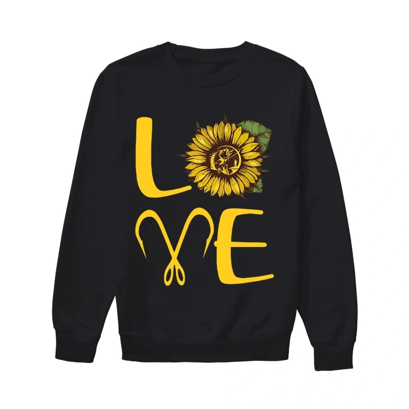 Sunflower Fishing Love Sweater