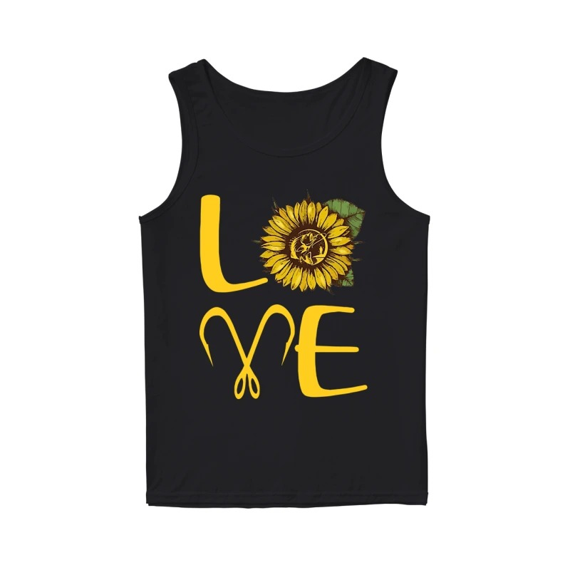 Sunflower Fishing Love Tank Top