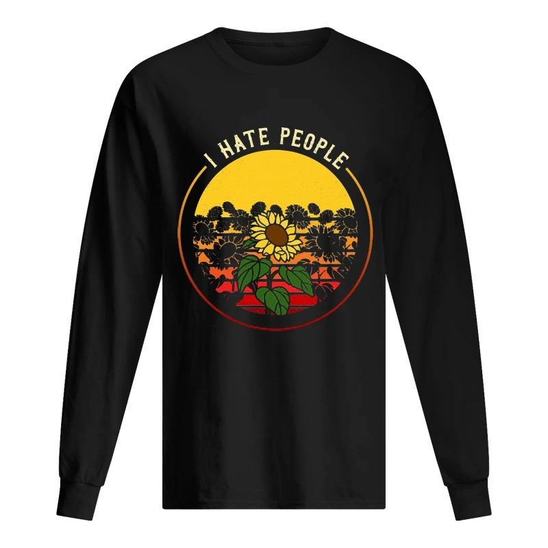 Sunflower I Hate People Longsleeve Tee