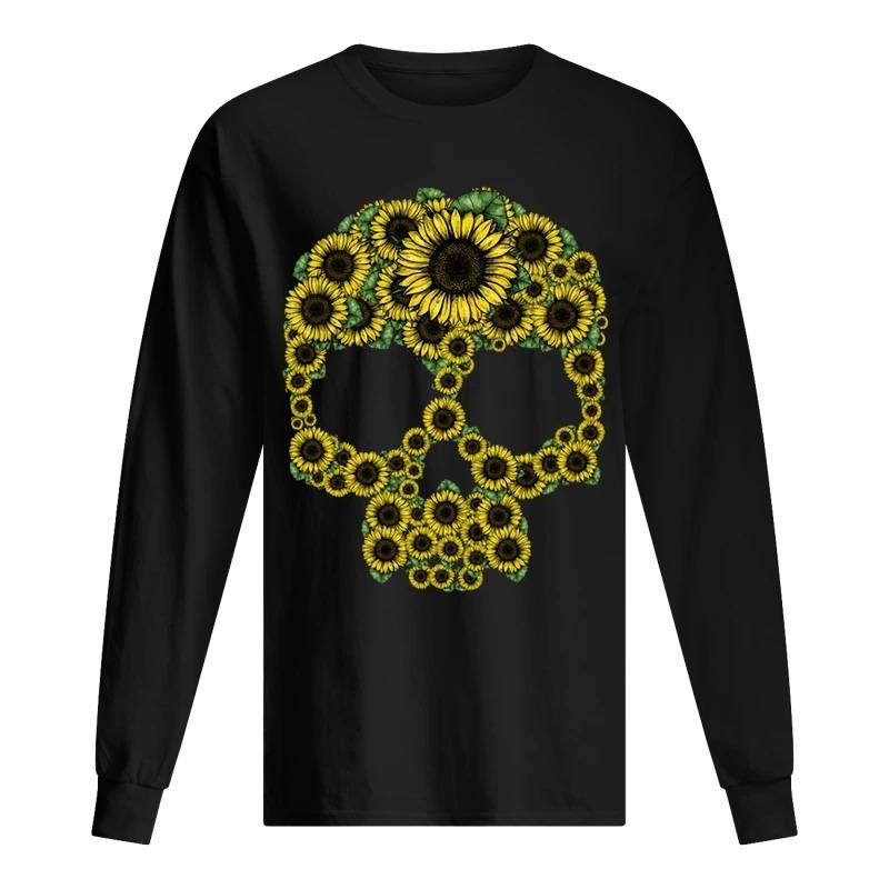 Sunflower Skull Longsleeve Tee
