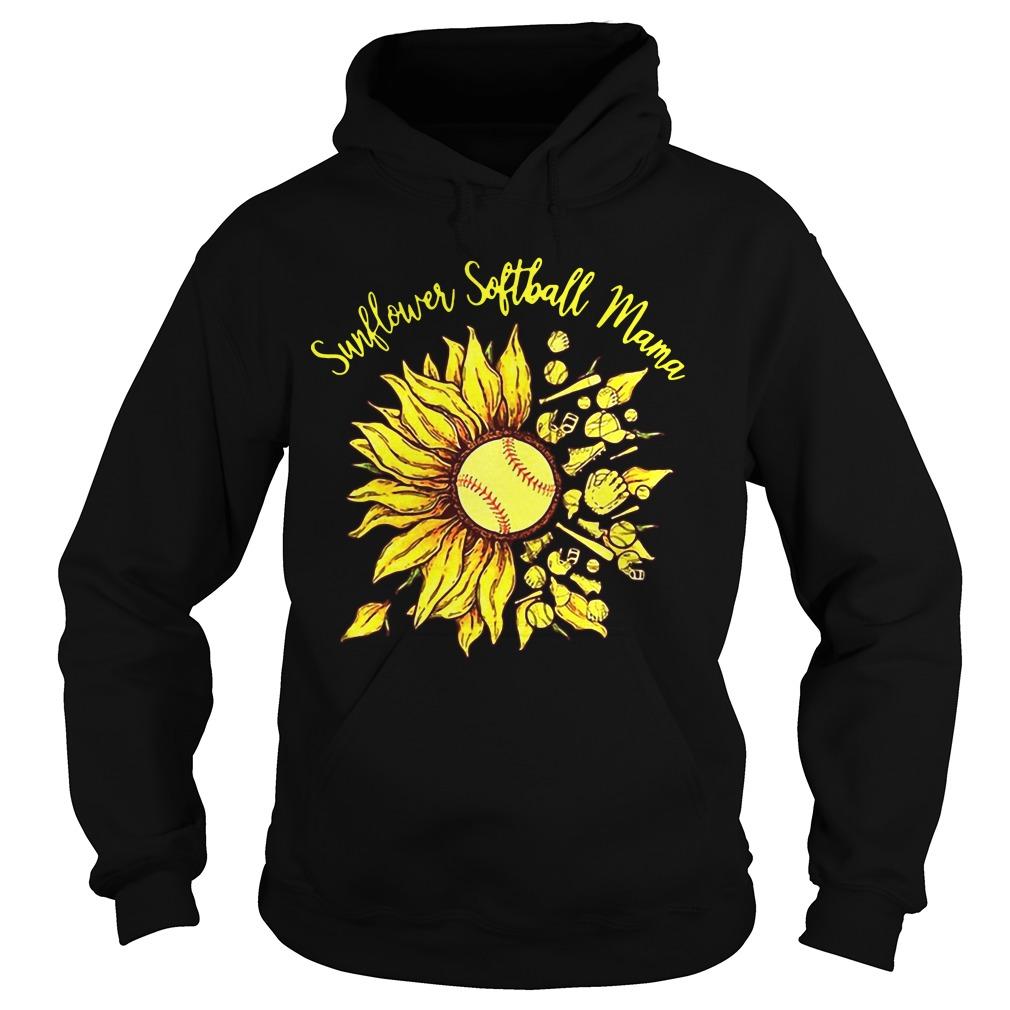 Sunflower Softball Mama Hoodie