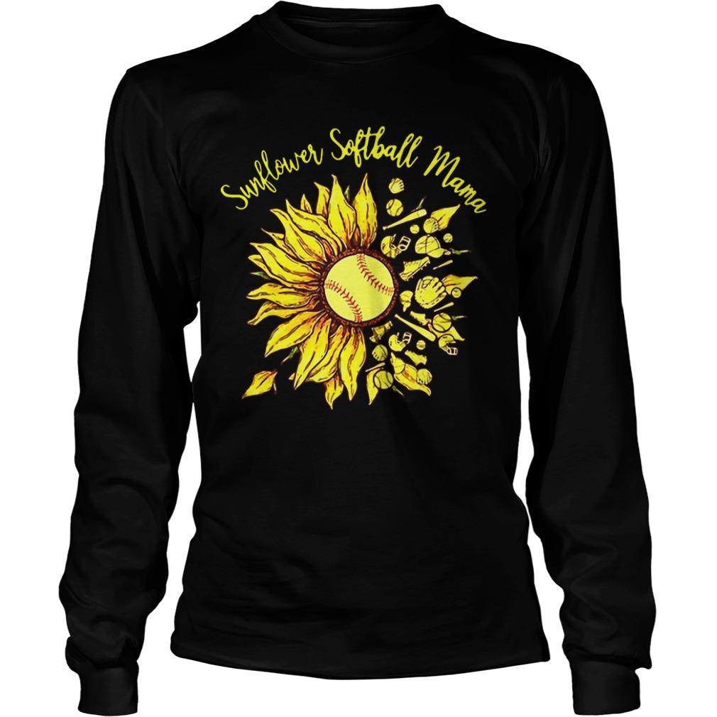 Sunflower Softball Mama Longsleeve Tee