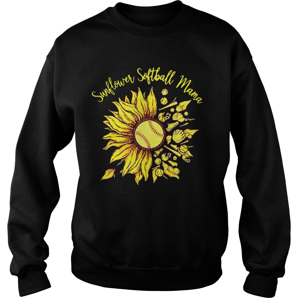 Sunflower Softball Mama Sweater
