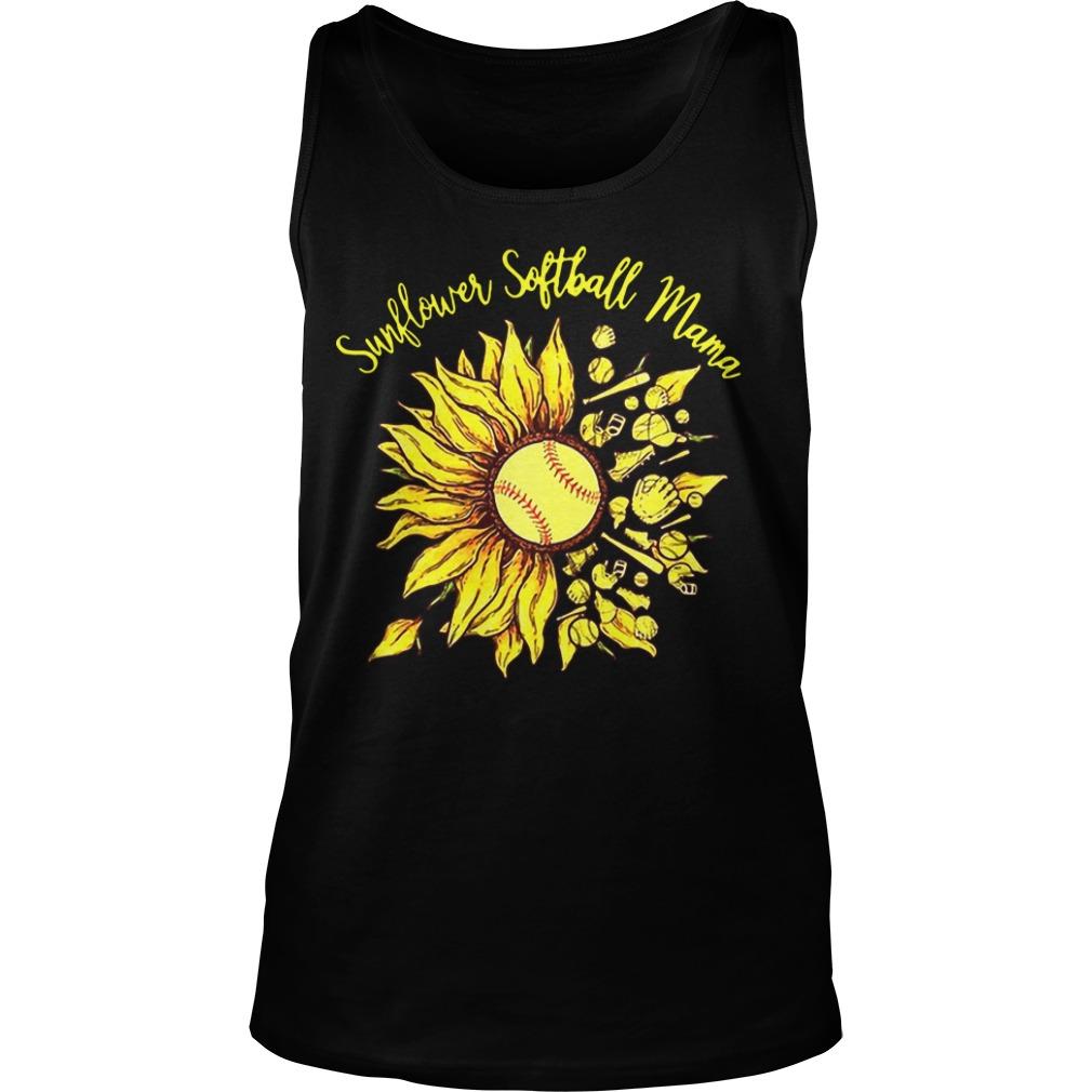 Sunflower Softball Mama Tank Top