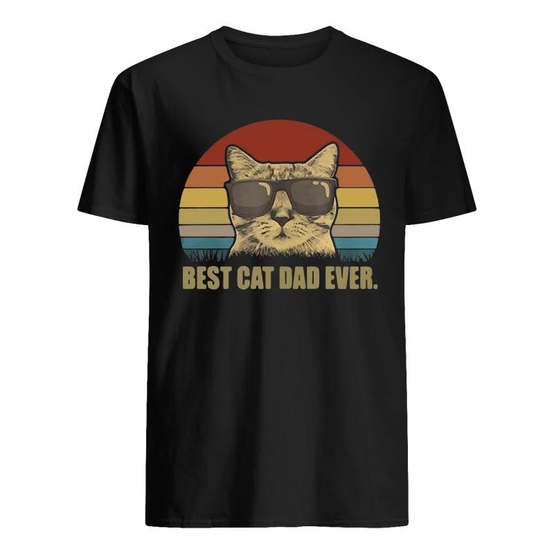 Sunset Best Cat Dad Ever Shirt