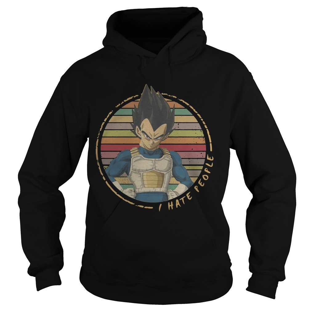 The Retro Sunset Vegeta I Hate People Hoodie