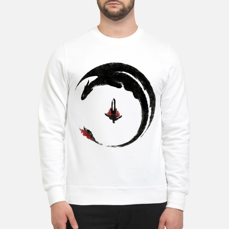 Toothless And Hiccup Flying Watercolor Drawing Sweater