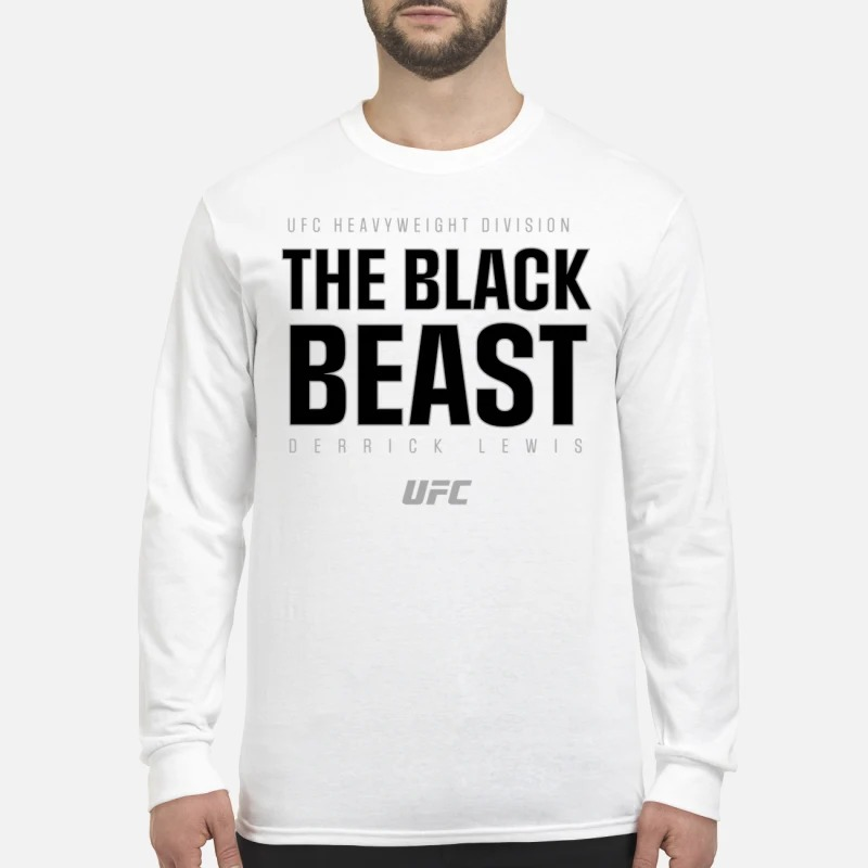 UFC Heavyweight Division The Black Beast Derrick Lewis Longsleeve Tee