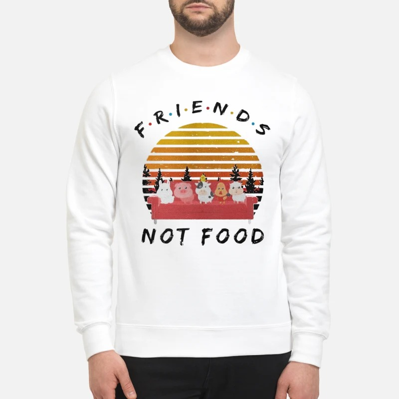Vintage Sunset Friends Not Food Sweater