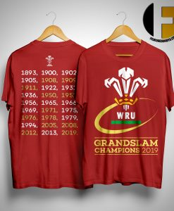 Welsh Rugby 2019 Grand Slam Champions Shirt