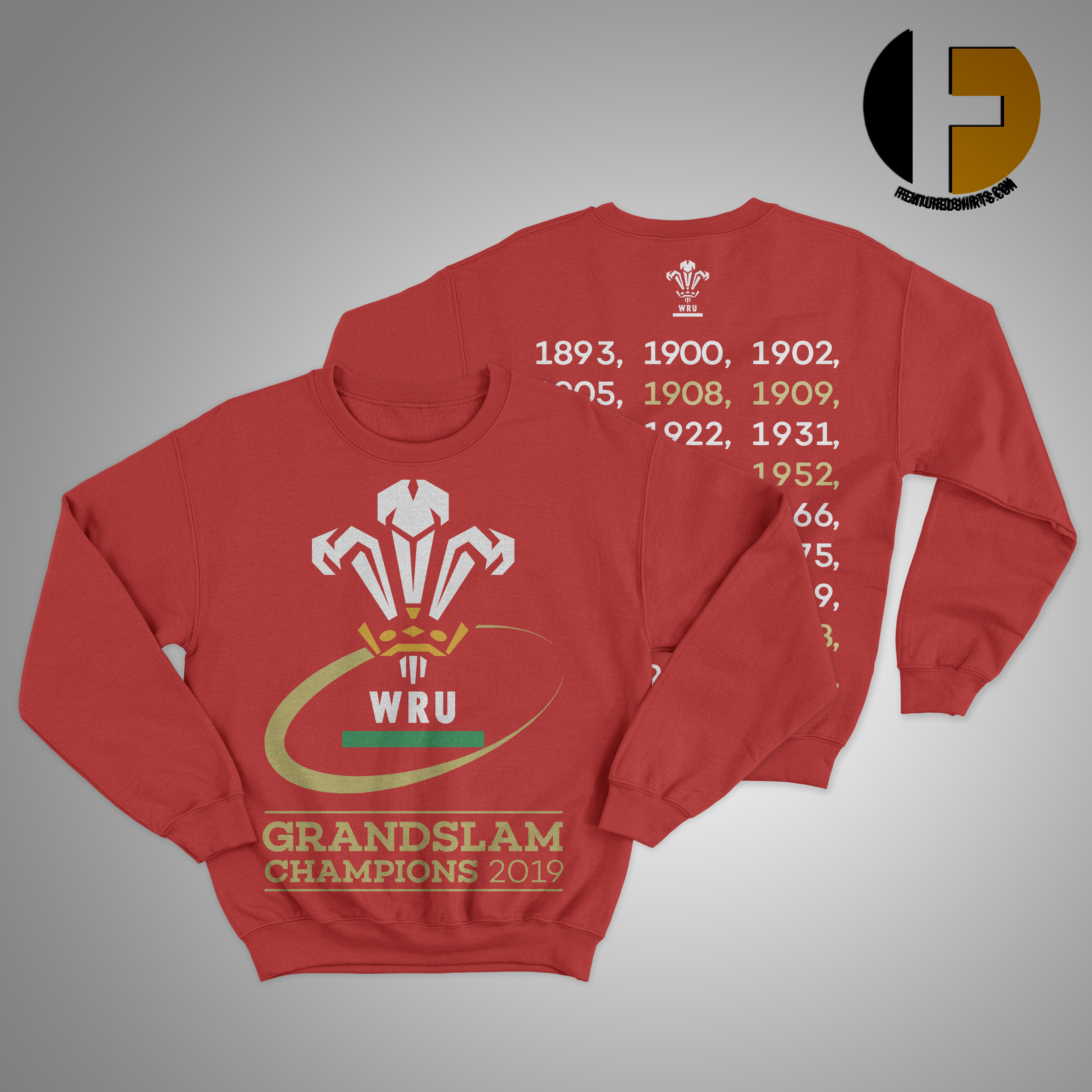 Welsh Rugby 2019 Grand Slam Champions Sweater