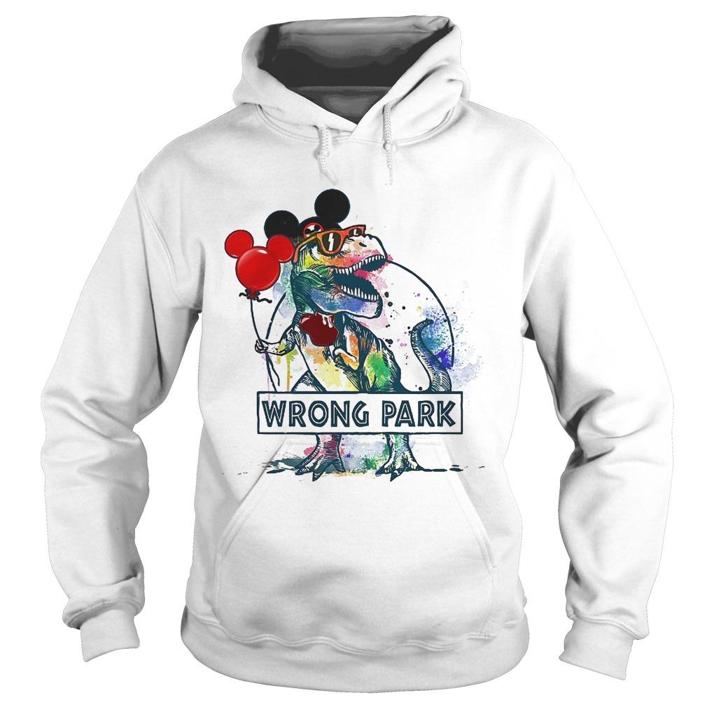 Wrong Park T Rex Hoodie