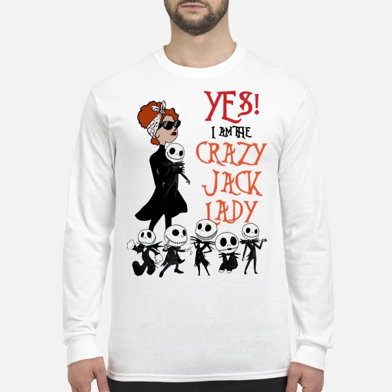 Yes I Am The Crazy Jack Lady Longsleeve Tee