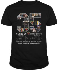35 Years Of Bon Jovi Thank You For The Memories Signature Shirt