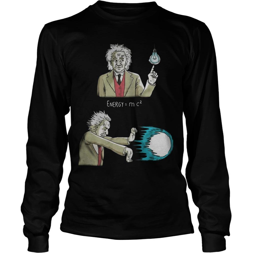 Albert Einstein Energy Super Energy Longsleeve Tee