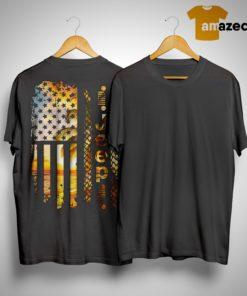 American Beach Flag Jeep Shirt
