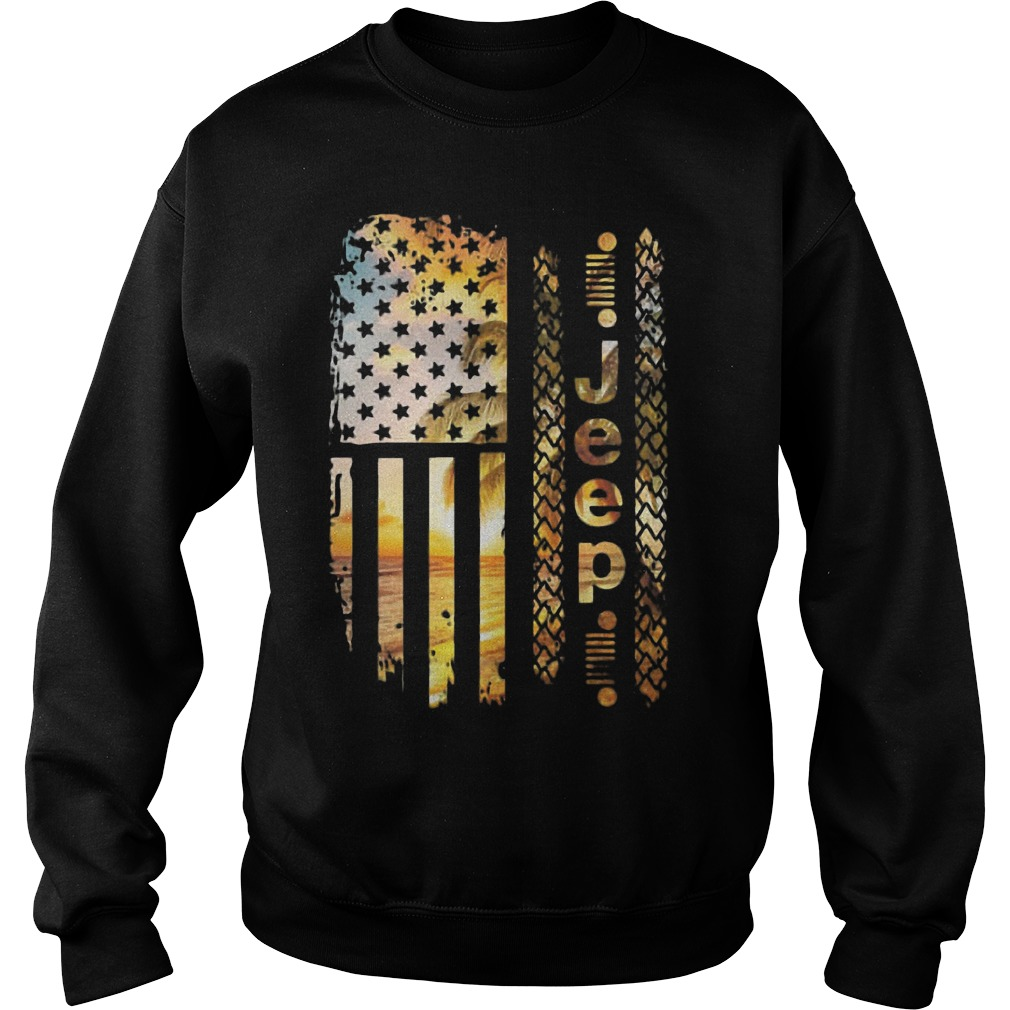 American Beach Flag Jeep Sweater