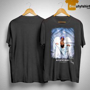 Angel Wings Rip Nipsey Hussle 1985 2019 Shirt