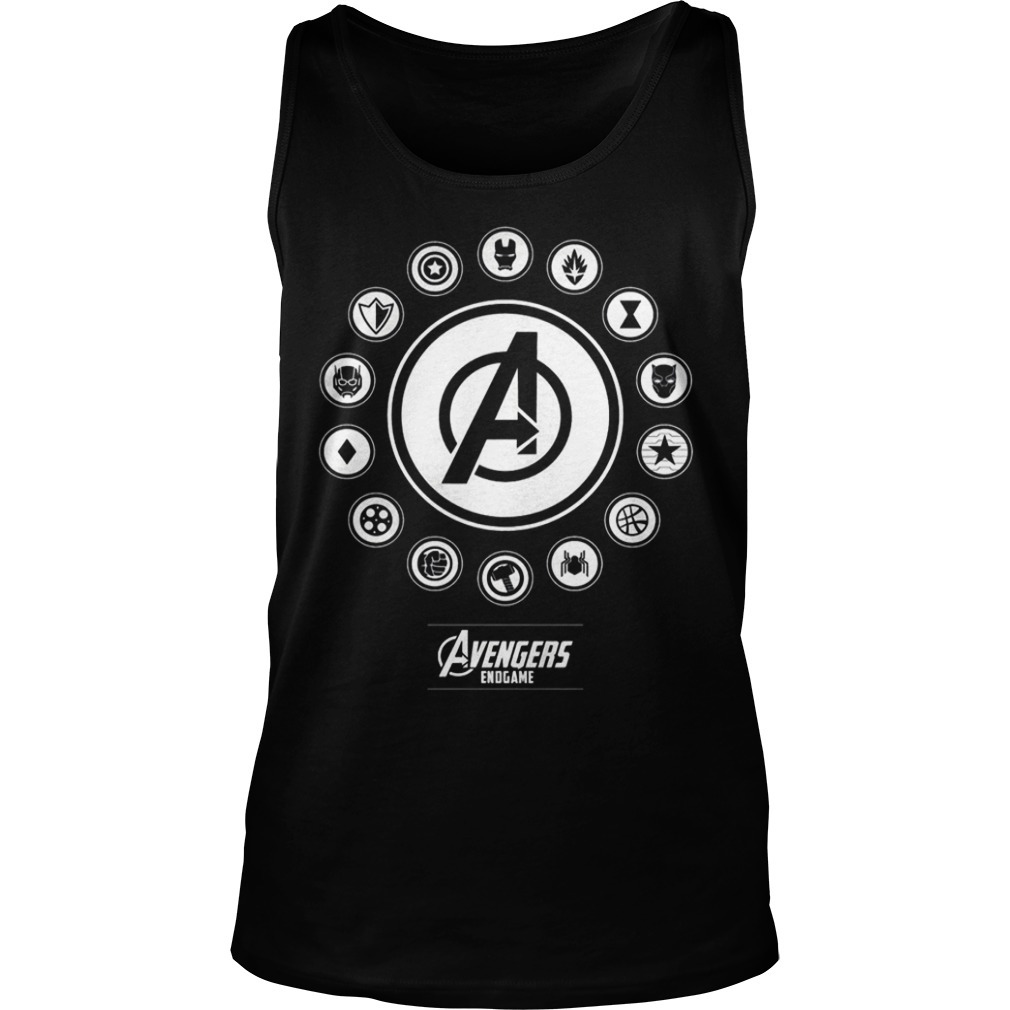 Avengers Endgame Circle Symbols Of Heroes Tank Top