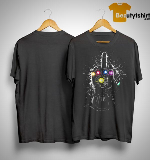 Avengers Endgame Fuck Thanos Infinity Gauntlet Shirt
