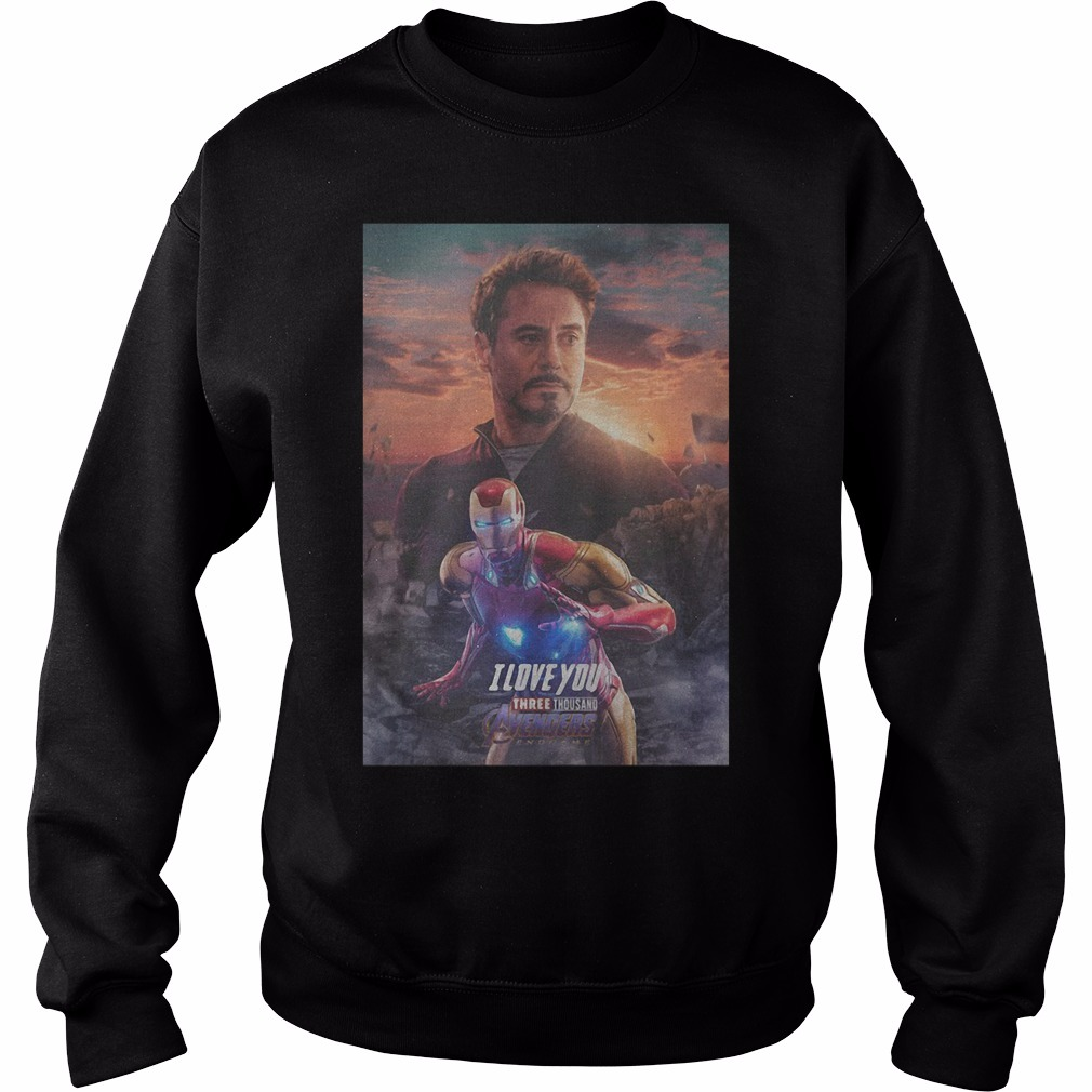 Avengers Endgame Tony Stark I Love You Three Thousand Sweater