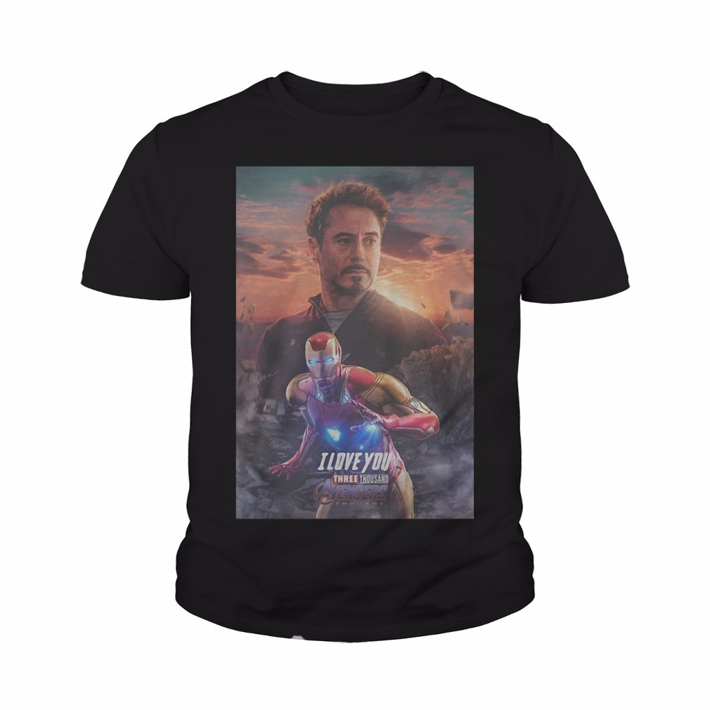Avengers Endgame Tony Stark I Love You Three Thousand Youth Tee